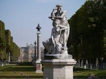 Statyer i Jardin du Luxemburg Fotografering för Bildbyråer