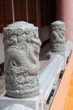 Statyer i kinesisk tempel. Royaltyfri Bild