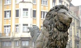 Statyer i skopje, macedonia, projekt skopje 2014, Arkivbilder