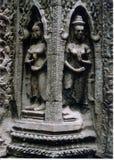 Statyer på ankrar Wat Fotografering för Bildbyråer