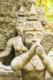 Statyer på den hemliga trädgården på Koh Samui Island, Thailand Royaltyfri Fotografi