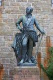 Statyer på den Hohenzollern slottsmåstaden Hohenzollern arkivbild