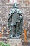 Statyer på den Hohenzollern slottsmåstaden Hohenzollern arkivfoto