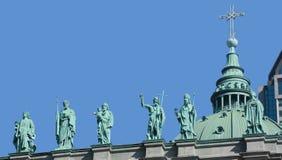 Statyer på Domkyrka-basilikan av Mary, drottning av världen Arkivfoton