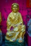 Statyer på tio tusen Buddhakloster i Sha tenn, Hong Kong, Kina Arkivfoto
