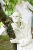 Statyer under den internationella festivalen av bosatta statyer Royaltyfria Bilder