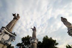 Statyerna på basilikadel Santo Nino, Cebu stad, Filippinerna Arkivbilder