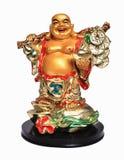 Statyett av Buddha på en vit bakgrund Royaltyfri Bild