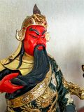 Statyett av den legendariska kinesen Kuan Yu God av kriget Royaltyfria Foton
