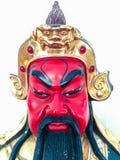 Statyett av den legendariska kinesen Kuan Yu God av kriget arkivbild