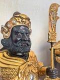 Statyett av den legendariska kinesiska guden av kriget Royaltyfria Bilder