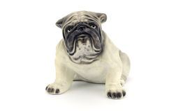 Statyett av hunden som isoleras på vit bakgrund Royaltyfri Bild