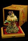 Statyett - karusell av guld Fotografering för Bildbyråer
