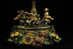 Statyett - karusell av guld Royaltyfria Bilder