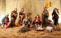 Statyetter av även födelse av Jesus Arkivfoto