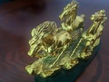 Statyetter av tre hästar Royaltyfri Bild