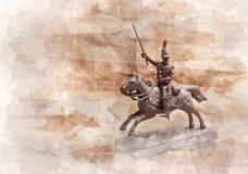 Statyettsoldat, rysk dragon Royaltyfria Bilder