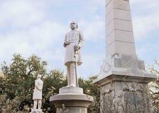 Statygeneral Albert Sydney Johnson, förbundsmedlemkrigminnesmärken i Dallas, Texas royaltyfri fotografi