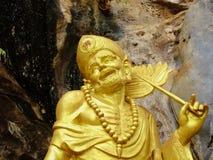StatyJi Gong (den Ji läraren) i templet Wat Tham Sua thailand Fotografering för Bildbyråer