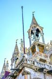 Statymosaiker St Mark & x27; s-kyrka Venedig Italien Arkivfoto