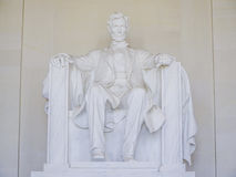 Statyn av Abraham Lincoln på Lincoln Memorial i Washington - WASHINGTON DC - COLUMBIA - APRIL 7, 2017 Arkivbilder