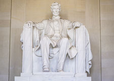 Statyn av Abraham Lincoln på Lincoln Memorial i Washington - WASHINGTON DC - COLUMBIA - APRIL 7, 2017 Arkivfoto