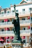 Statyn av damen Liberty på den Mackinac ön Arkivbilder