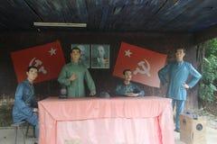 Statyn av den revolutionära ungdomen för möte i den Parkï för röd armé ¼en Œshenzhen, porslin Arkivfoton