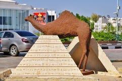 Statyn av en kamel i Sharm el Sheikh, Egypten Royaltyfri Fotografi