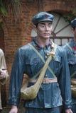 Statyn av en soldat för röd armé i den Parkï för röd armé ¼en Œshenzhen, porslin Fotografering för Bildbyråer
