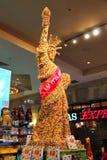 Statyn av frihet som göras av choklad, är i lager på New York - Ne Arkivfoto