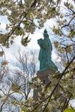 Statyn av frihet fjädrar in Arkivbild