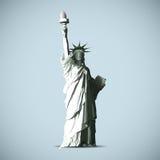 Statyn av frihetvektorBlack Shadows silhouetten stock illustrationer