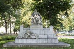 Statyn av Johann Brahms i Wien royaltyfria foton
