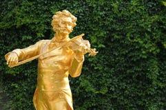 Statyn av Johann Strauss i Wien, Österrike Royaltyfria Foton