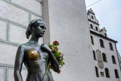 Statyn av Juliet nära det gamla stadshuset i Munich Fotografering för Bildbyråer
