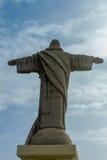 Statyn av Kristus konungen på ön av madeiran Arkivfoton