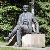 Statyn av Lenin i Grutas parkerar arkivfoto