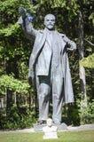 Statyn av Lenin i Grutas parkerar royaltyfri bild
