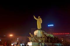 Statyn av Mao Zedong Arkivbild