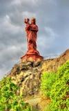 Statyn av Notre-Dame av Frankrike Arkivfoto