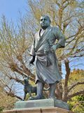 Statyn av Saigo Takamori på Ueno parkerar, Japan royaltyfri fotografi