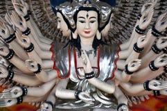 Staty av Shiva på ett tempel, marmorberg, Da Nang, Vietnam Royaltyfri Fotografi