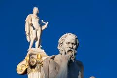 Statyn av Socrates. Aten Grekland. Royaltyfria Bilder