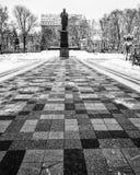 Statyn av Taras Shevchenko parkerar in Shevchenko - Kyiv Royaltyfri Foto