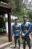 Statyn av tjänstemännen och vakterna i den Parkï för röd armé ¼en Œshenzhen, porslin Royaltyfri Bild