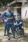 Statyn av tjänstemännen och vakterna i den Parkï för röd armé ¼en Œshenzhen, porslin Royaltyfria Foton