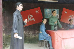 Statyn av upprorsmannen i den Parkï för röd armé ¼en Œshenzhen, porslin Royaltyfri Fotografi