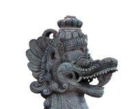 Statyn för Balinesedrakehuvudet isolerade arkivfoton