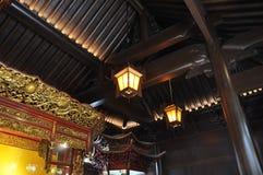 Statyn för jade för vilaBuddha den vita från den Jade Buddha Temple inre i Shanghai royaltyfria foton